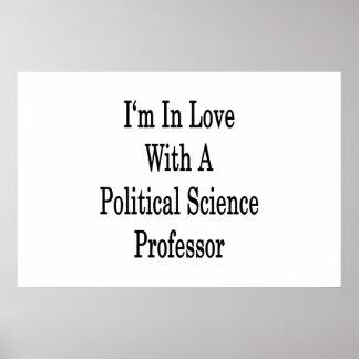 Ich bin in der Liebe mit einem politische Wissensc Posterdrucke