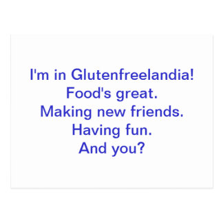 Ich bin in Glutenfreelandia Postkarte