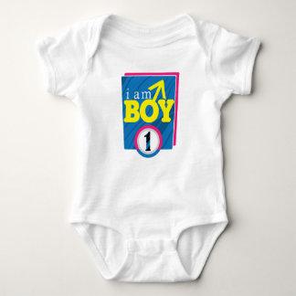 ich bin Junge 1 Baby Strampler