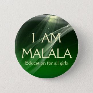 Ich bin Malala Bildung für alle Mädchen Runder Button 5,1 Cm