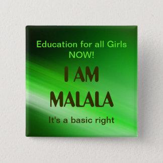 Ich bin Malala Kampagne Quadratischer Button 5,1 Cm