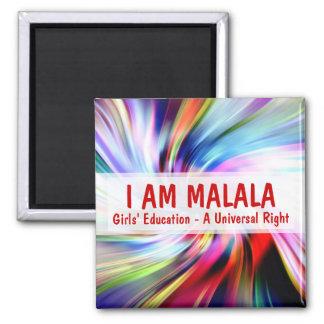 Ich bin Malala Mädchen-Bildung ein universelles Quadratischer Magnet