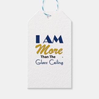 ich bin mehr als das Glasdeckent-stück Geschenkanhänger