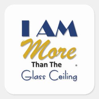 ich bin mehr als das Glasdeckent-stück Quadratischer Aufkleber