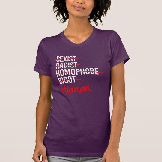 Ich bin menschliches - nein zur T-Shirt