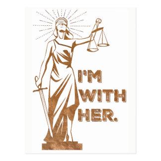 Ich bin mit Gerechtigkeits-Protest-Postkarte Postkarte