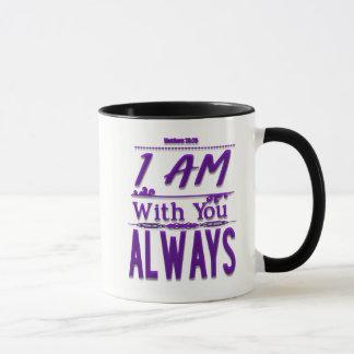 Ich bin mit Ihnen immer christliche Kaffee-Tasse Tasse