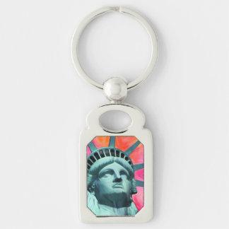 Ich bin mit ihr - Dame Liberty - Freiheitsstatue Schlüsselanhänger