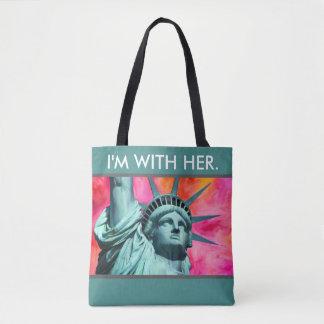 Ich bin mit ihr - Dame Liberty - Freiheitsstatue Tasche