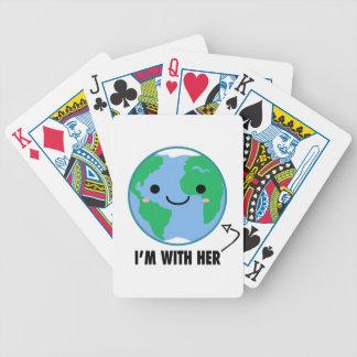 Ich bin mit ihr - Planeten-Tag der Erde Bicycle Spielkarten