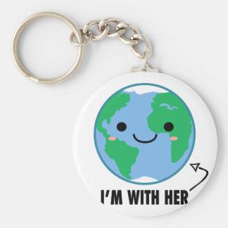 Ich bin mit ihr - Planeten-Tag der Erde Schlüsselanhänger