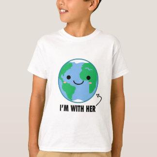 Ich bin mit ihr - Planeten-Tag der Erde T-Shirt