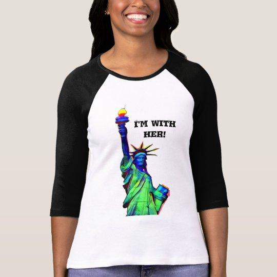 Ich bin mit ihrem Freiheitsstatuen T-Shirt