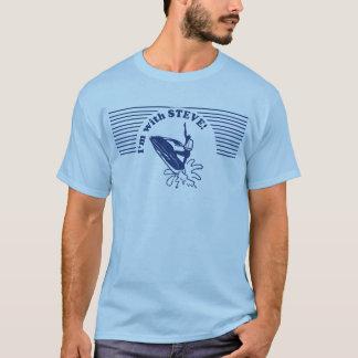 Ich bin mit JET-FAHRRAD STEVE! T-Shirt