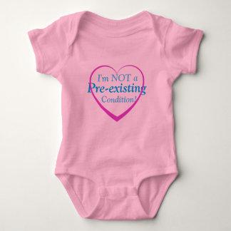 Ich bin NICHT eine vor bestehende Bedingung! Baby Strampler