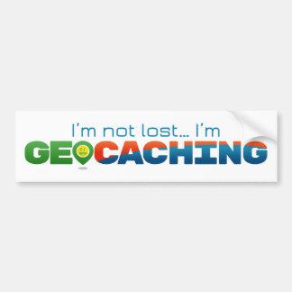 Ich bin nicht, ich bin Geocaching verloren Autoaufkleber