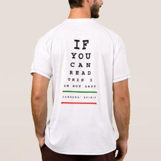 Ich bin nicht letztes Augen-Diagramm - Laufen des T-Shirt