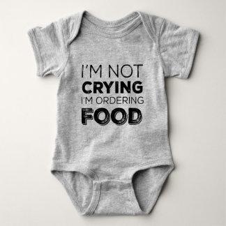 Ich bin nicht schreiend ich bestelle Nahrung Baby Strampler