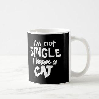Ich bin nicht Single, den ich eine Kaffeetasse
