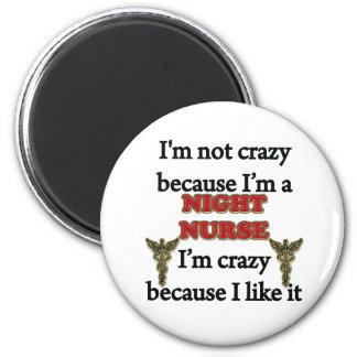 Ich bin nicht verrückt runder magnet 5,7 cm