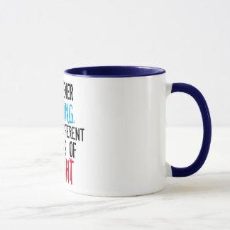 ich bin nie falscher lustiger Tassenentwurf Tasse