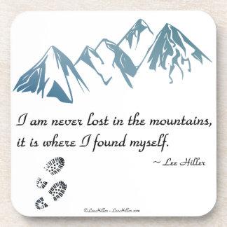 Ich bin nie in den Bergen, es bin wo… verloren Untersetzer