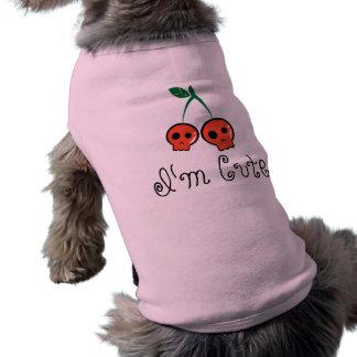 Ich bin niedlicher Kirschschädel-HundeT - Shirt Ärmelfreies Hunde-Shirt