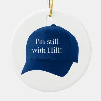 Ich bin noch mit sammelbaren der Hügel-blauen Rundes Keramik Ornament