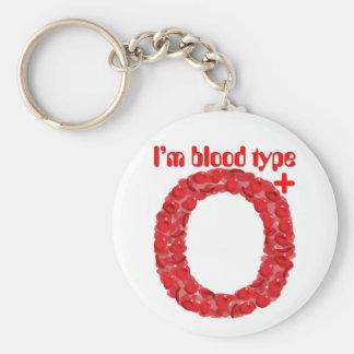 Ich bin Positiv der Blutgruppe O Schlüsselanhänger