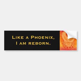 Ich bin Reborn Phoenix-Autoaufkleber Autoaufkleber