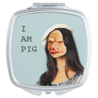 """""""Ich bin Schwein"""" kompakter Spiegel Schminkspiegel"""