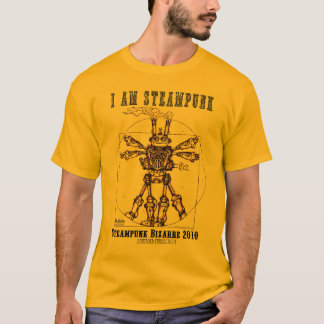 ICH BIN STEAMPUNK: Vitruvian Steambot T-Shirt