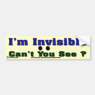 Ich bin unsichtbar autosticker