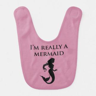 Ich bin wirklich ein Meerjungfrau-Baby Lätzchen