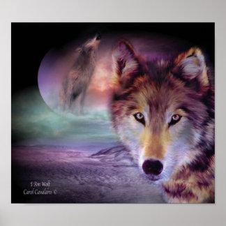 Ich bin Wolf-Kunst-Plakat/Druck Poster