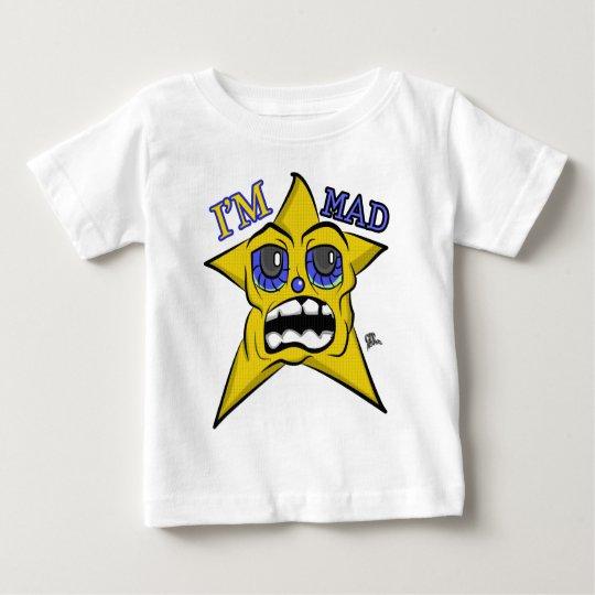 Ich bin wütender blaue Augen-Stern Baby T-shirt