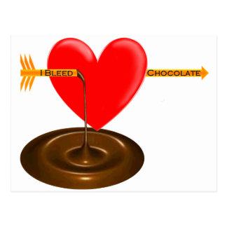 Ich blute Schokolade .com Postkarte
