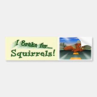 Ich bremse für Eichhörnchen! Autoaufkleber