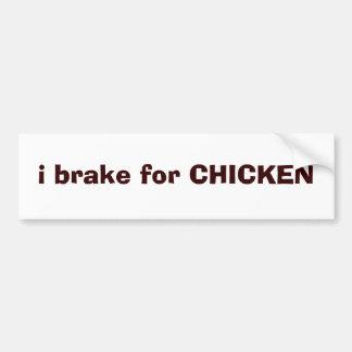 ich bremse für HUHN Autoaufkleber