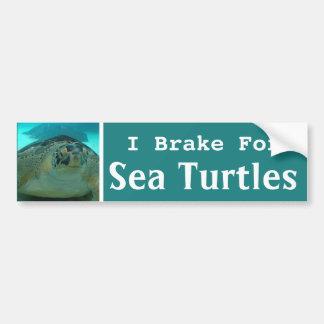 Ich bremse für Meeresschildkröten Autoaufkleber