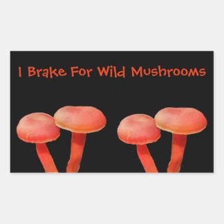 Ich bremse für Pilz-niedliche Natur Rechteckiger Aufkleber