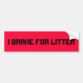 Ich bremse für Sänfte. LKW- oder Autoaufkleber