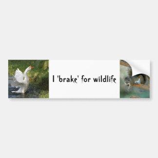 Ich bremse für wild lebende Tiere Autoaufkleber