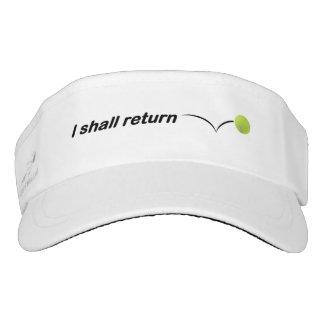 Ich bringe Tennis-Maske zurück Visor
