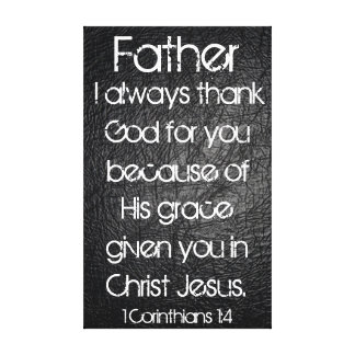 Ich danke immer Gott für Sie Vaterbibel-Vers Galerie Falt Leinwand