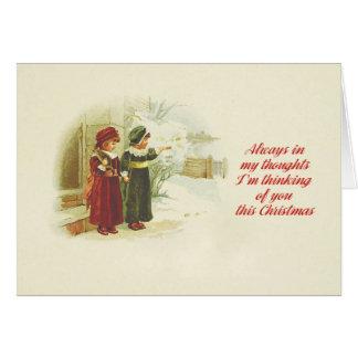 Ich denke an Sie dieses Weihnachten Karte