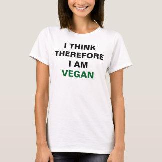Ich denke, dass deshalb ich veganes Shirt bin