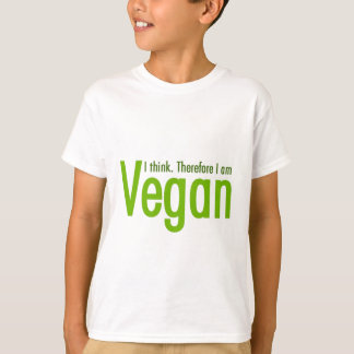 Ich denke.  Deshalb bin ich vegan T-Shirt