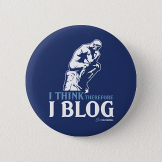 Ich denke, deshalb ich Blog Runder Button 5,1 Cm
