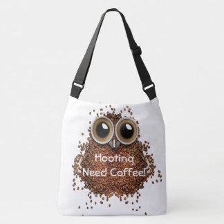 """""""Ich der Eulen-Bohne johlenden Bedarf Kaffees"""" Tragetaschen Mit Langen Trägern"""